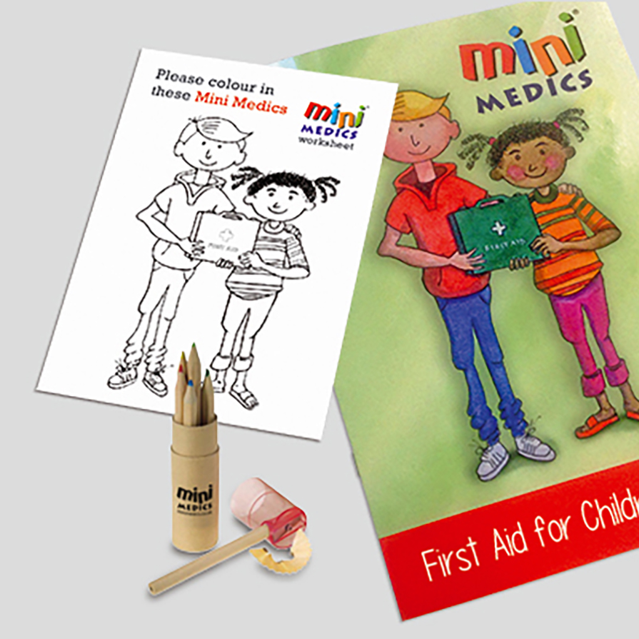 First Aid for Children Pack with Coloured Pencils Ref CM1323 Up to 7-10 Day Leadtime