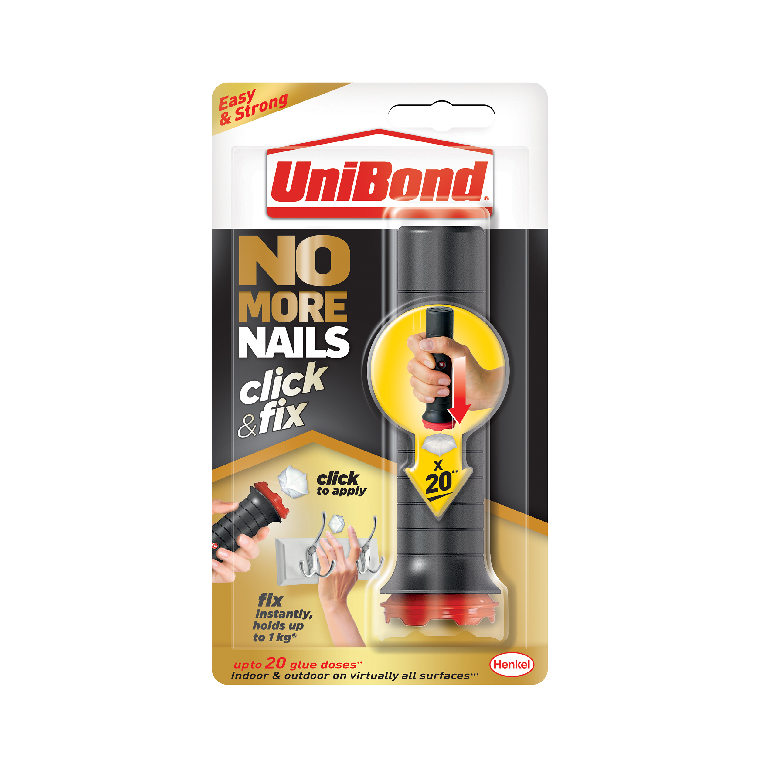 Glues Unibond No More Nails Click n Fix Adhesive 30g Ref 2312989