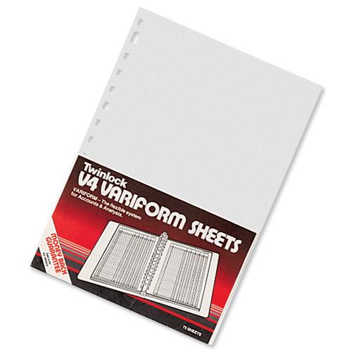 Image for Twinlock V4 Variform 5 Column Cash Sheets Ref 75931 [Pack 75]