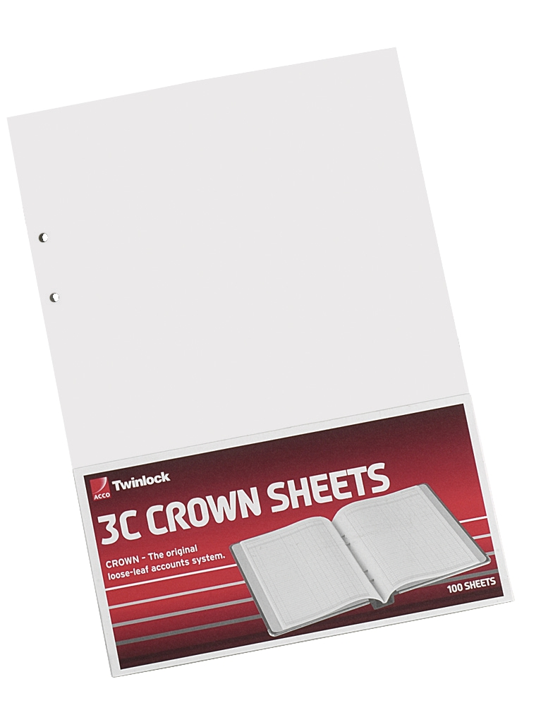 Image for Twinlock 3C Crown Double Ledger Sheets Ref 75841 [Pack 100]