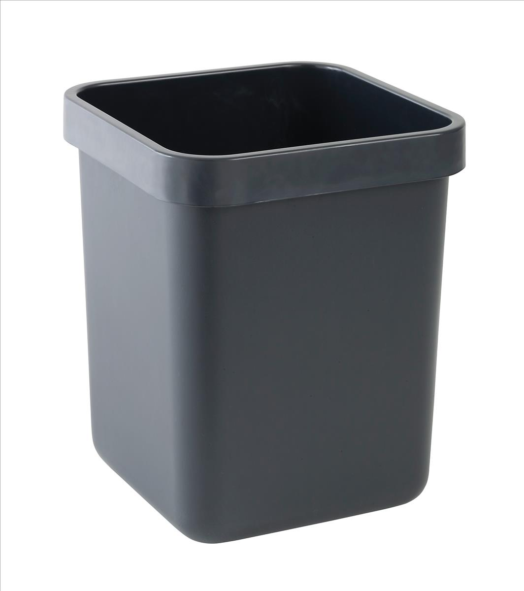 Image for Rexel Agenda Classic Waste Bin Rectangular W311xD311xH390mm 28 Litres Charcoal Ref 25671