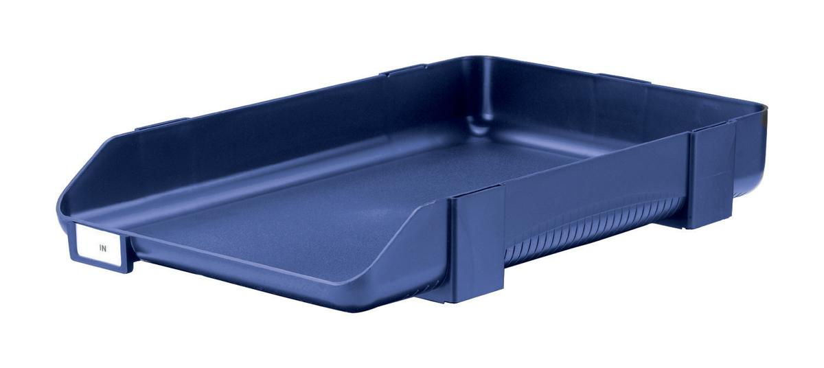 Image for Rexel Agenda Classic 55 Letter Tray Stackable Internal W382xH246x55mm Blue Ref 25207