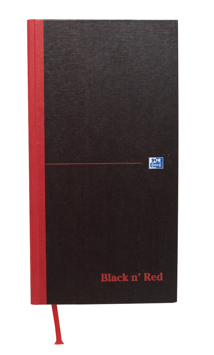 Black n Red Book Casebound 90gsm Ruled 192pp One-third xA3 Ref 100080528 [Pack 5]