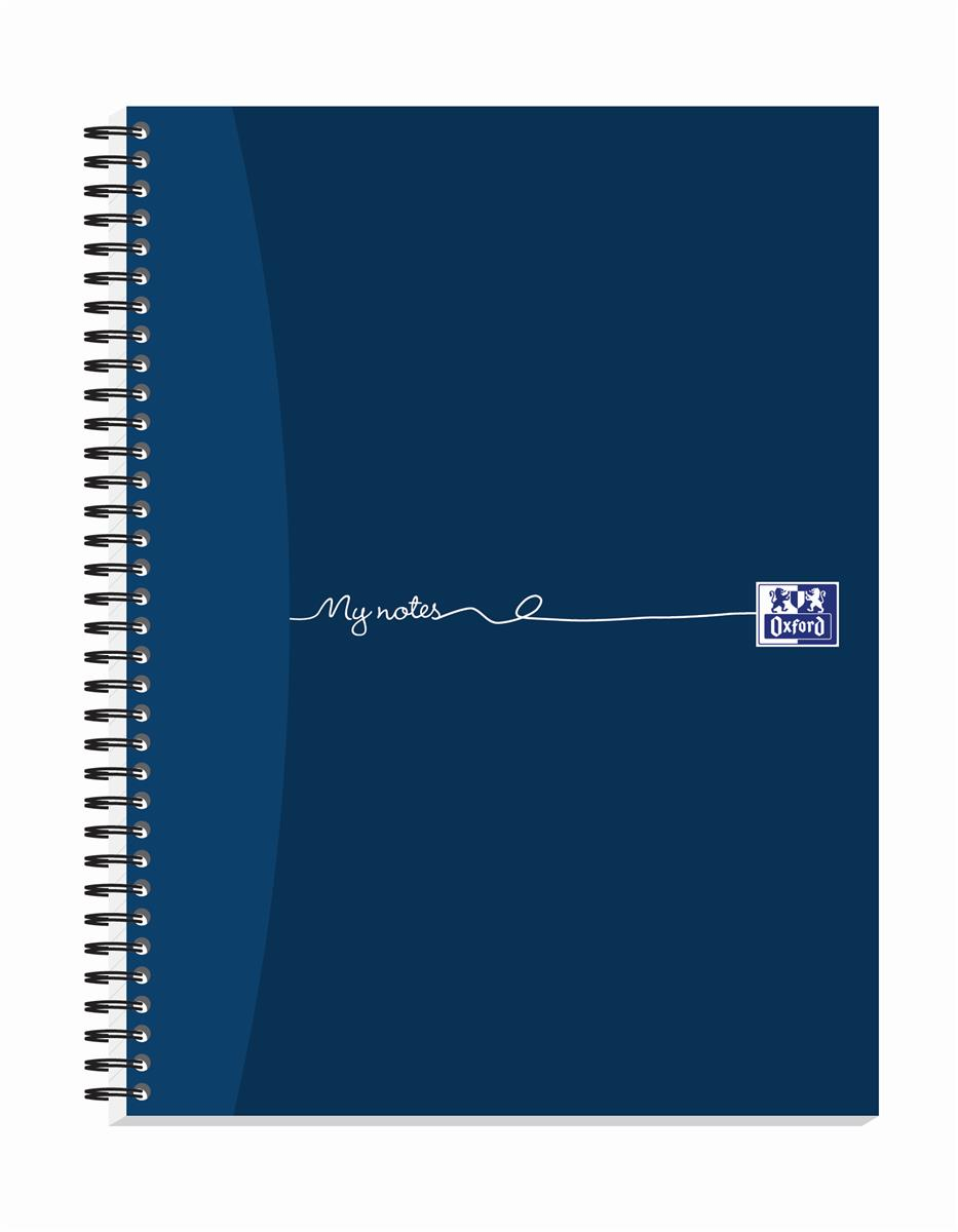 Oxford MyNotes Notebook Wirebound Punched 4 Holes 90gsm Ruled and Margin 320pp A4 Ref 100080518 [Pack 3]