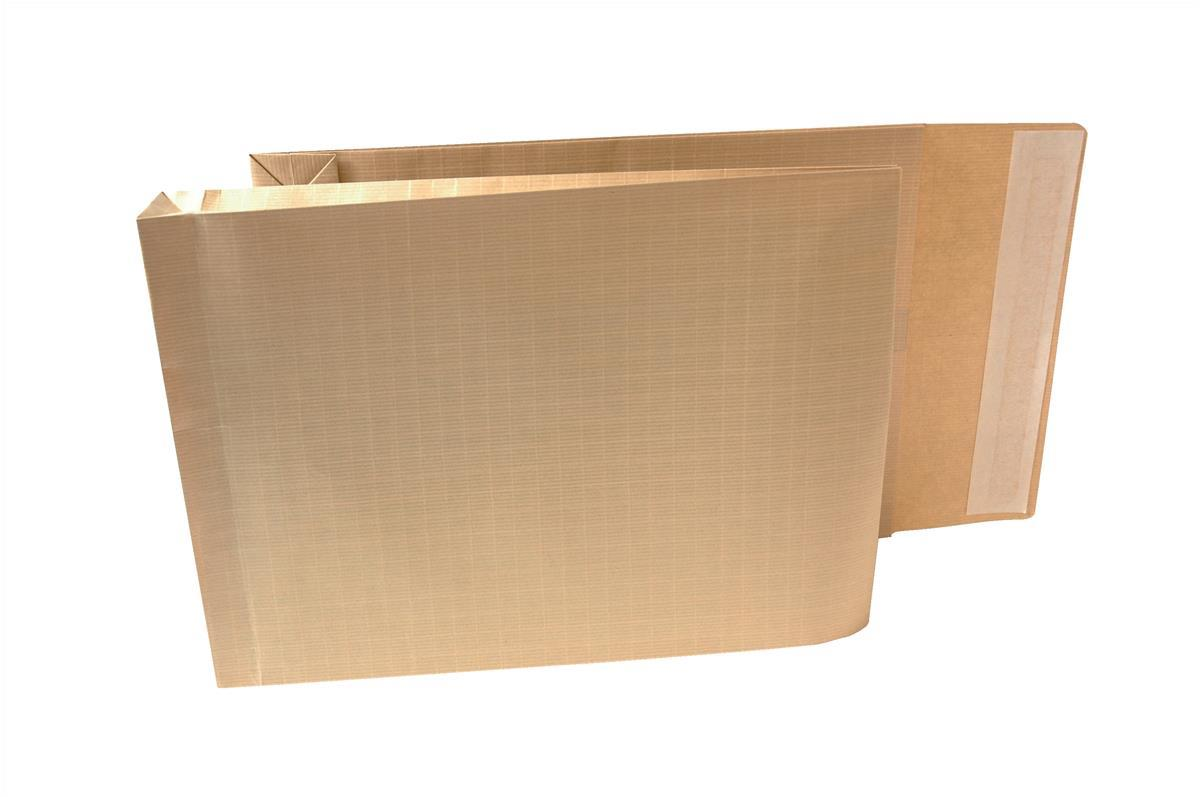 New Guardian Armour Envelopes Peel And Seal Gusset 50mm 130gsm Kraft Manilla 380x280mm [Pack 100]