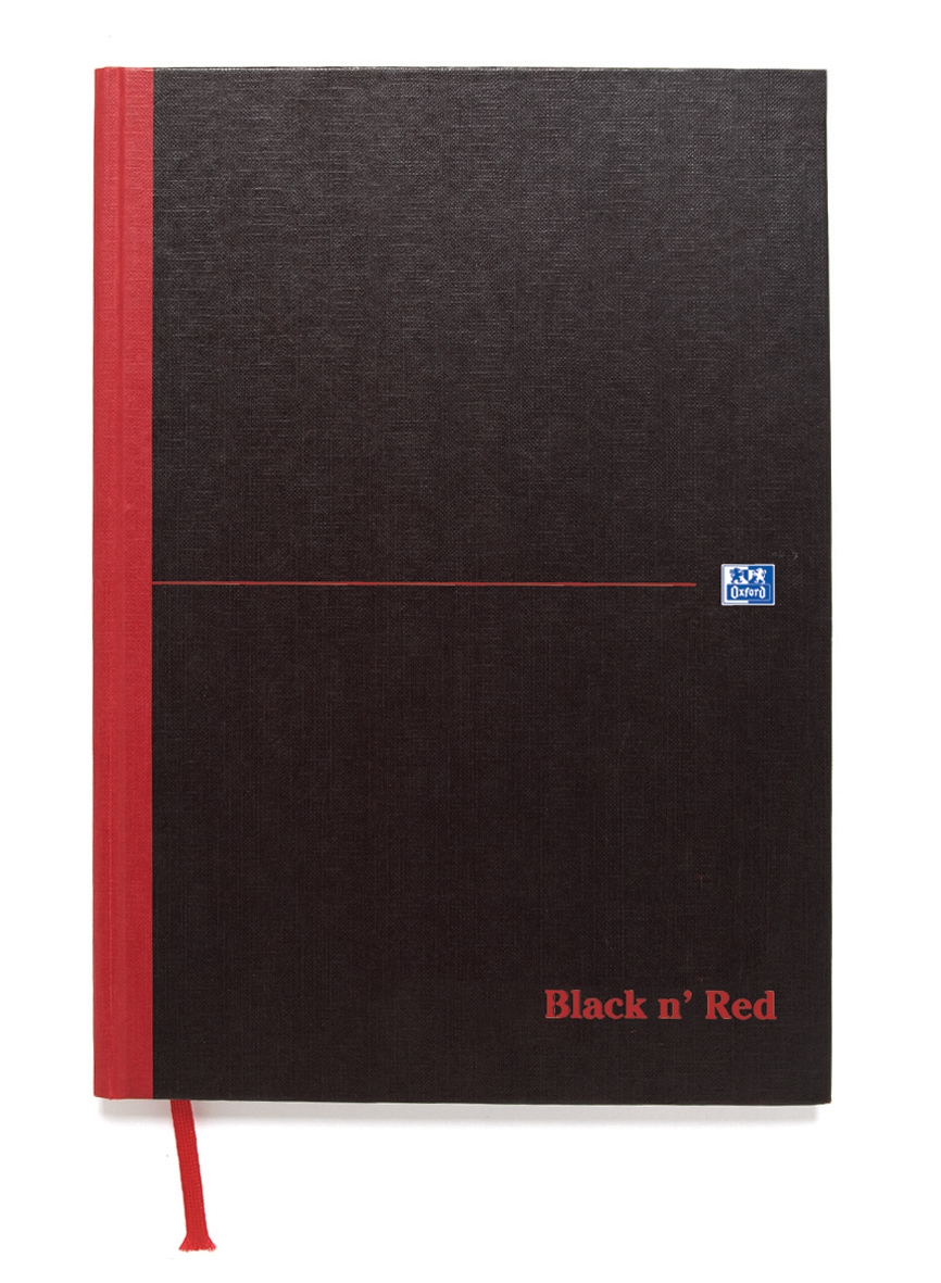 Image for Black n Red Book Casebound 90gsm Ruled 192pp A5 Ref 100080459 [Pack 5]