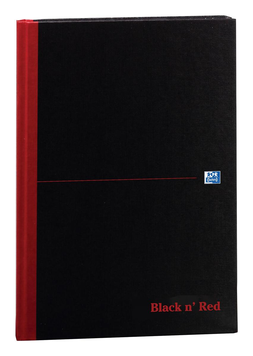 Image for Black n Red Book Casebound 90gsm Ruled 192pp A4 Ref 100080446 [Pack 5]