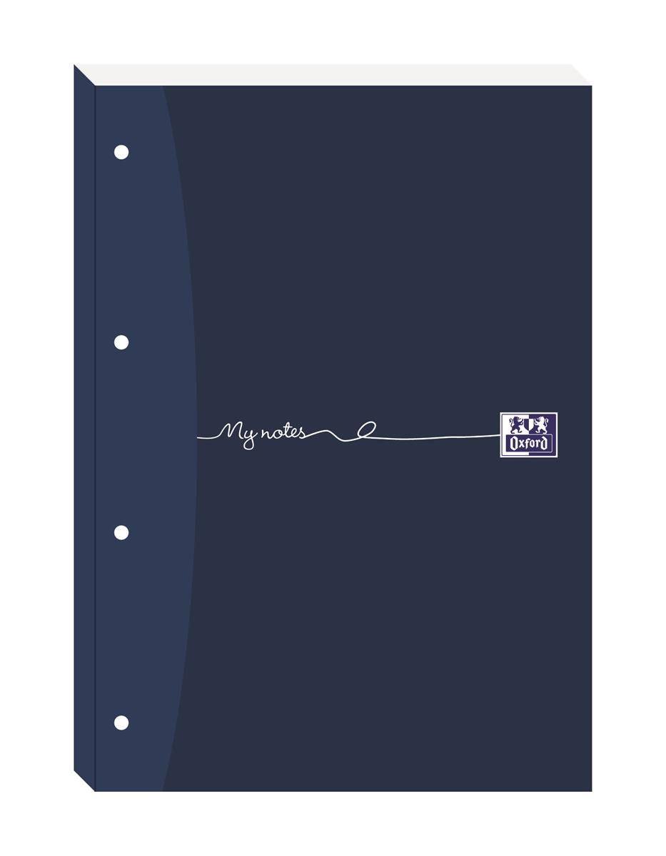 Image for Oxford MyNotes Refill Pad Sidebound Ruled Margin Punched 4 Holes 90gsm 200pp A4 Ref 100080143 [Pack 5]