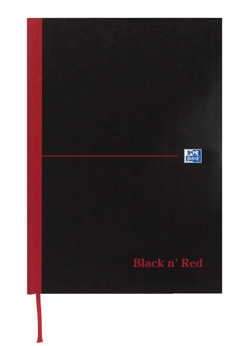 Image for Black n Red Book Casebound 90gsm Ruled Indexed A-Z 192pp A6 Ref 100080431 [Pack 5]