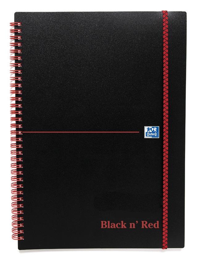 Black n Red Notebook Wirebound Polypropylene 90gsm Ruled 140pp A5 Ref 100080140 [Pack 5]