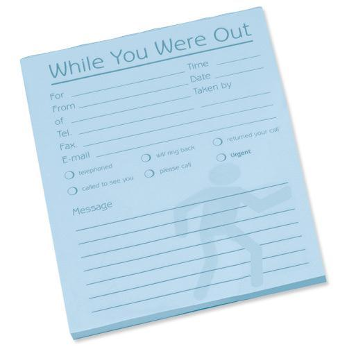 Image for Message Pad While You Were Out 80 Sheets 127x102mm Pale Blue Paper [Pack 10]