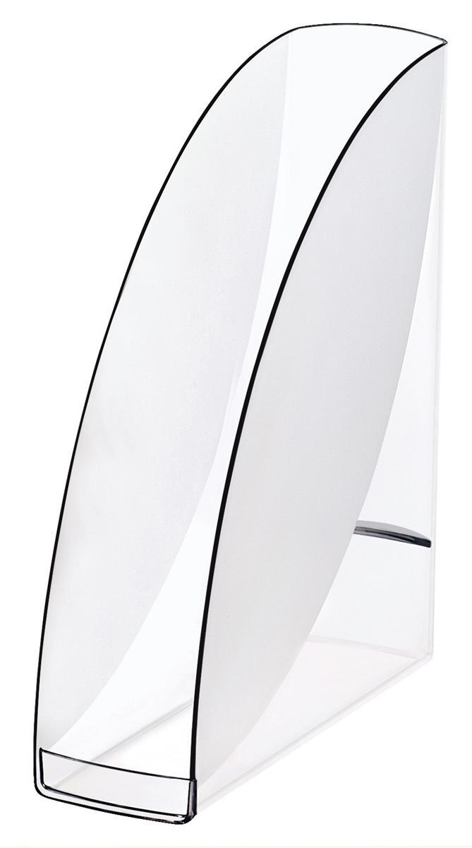 Image for CEP Premier Magazine Rack File Robust Elegant Moulded Polystyrene A4 Black Ice Ref 913586