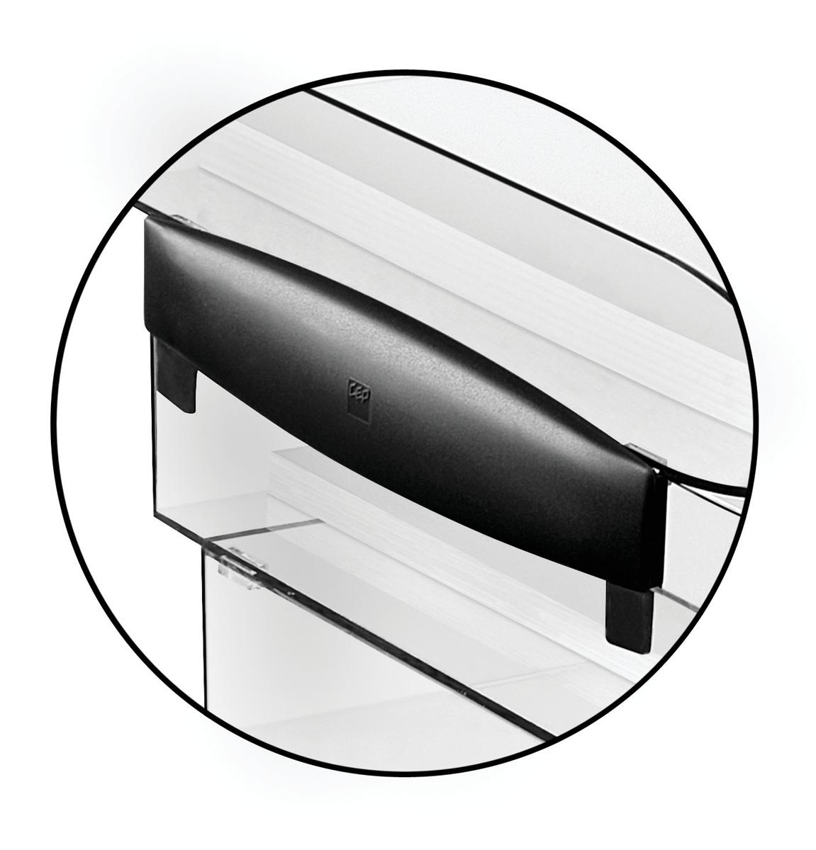 Image for CEP Premier Risers for Letter Tray H30mm Black Ice Ref 913551 [Pack 2]