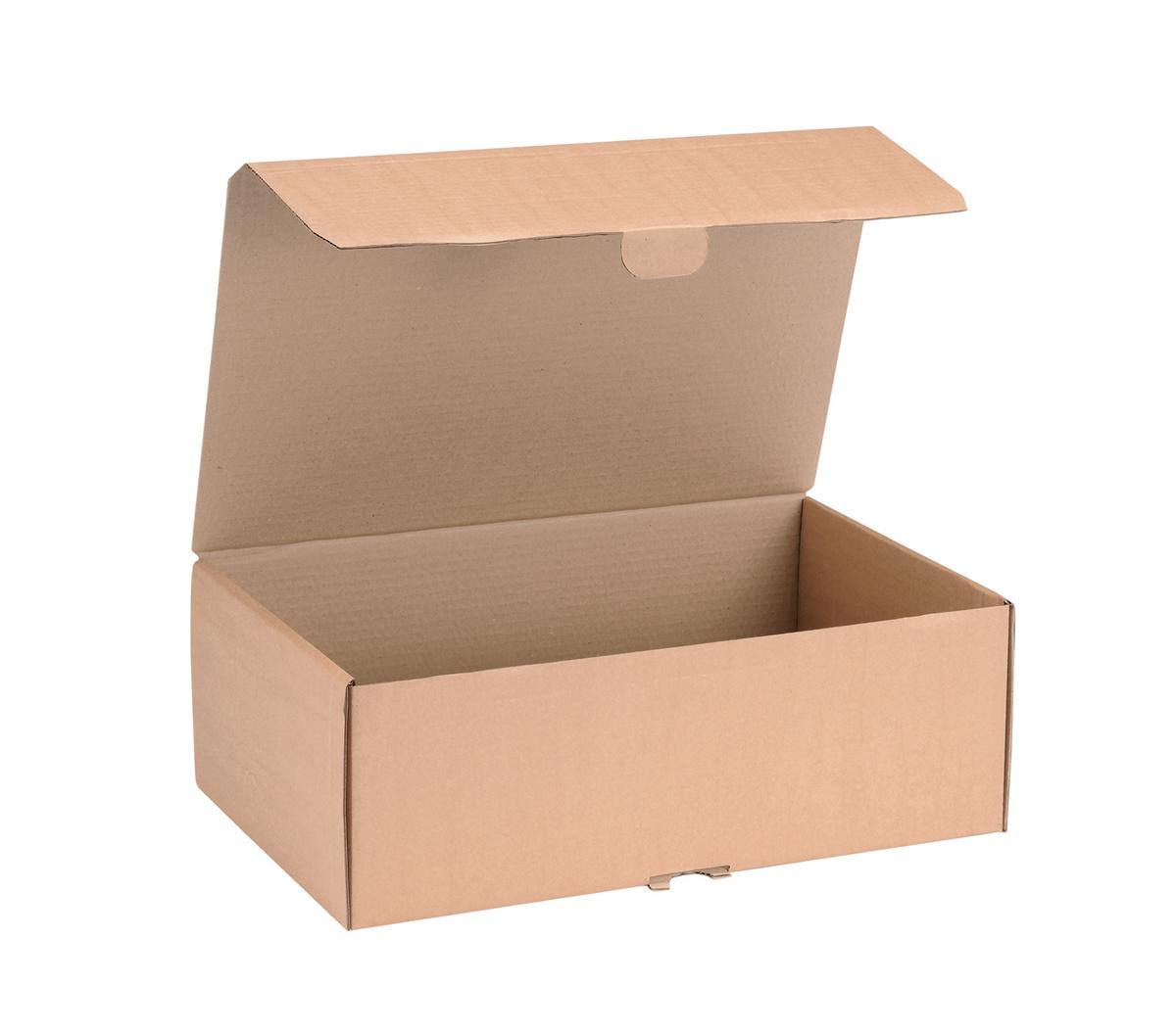 Image for Mailing Carton Easy Assemble L 395x255x140mm Brown [Pack 20]