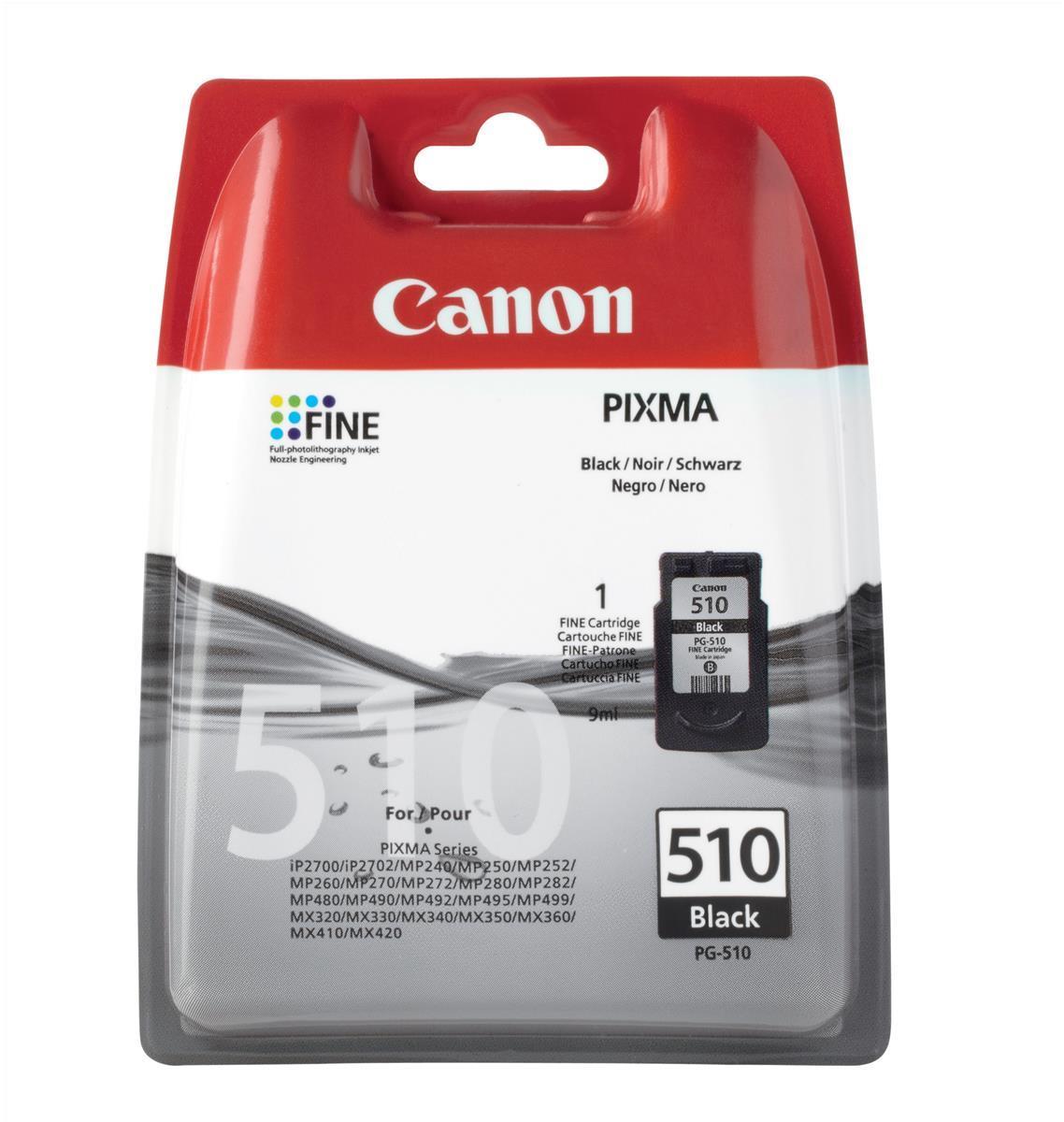 Canon PG-510 Inkjet Cartridge 220pp 9ml Black Ref 2970B001