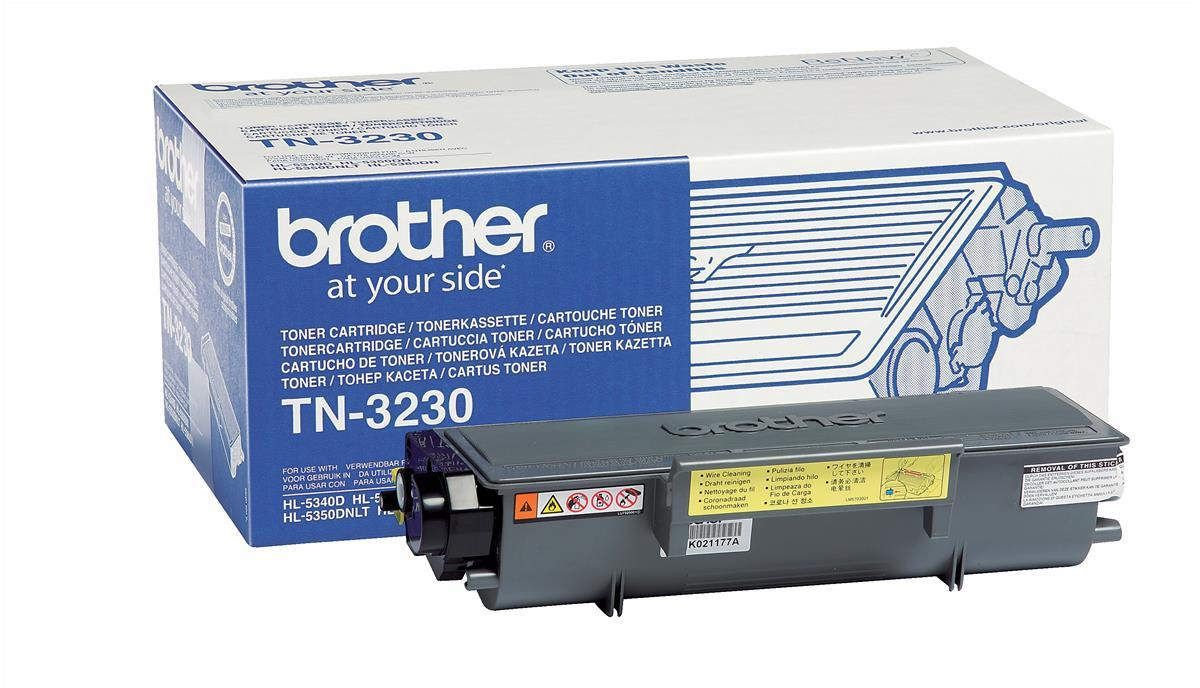 Brother Laser Toner Cartridge Page Life 3000pp Black Ref TN3230