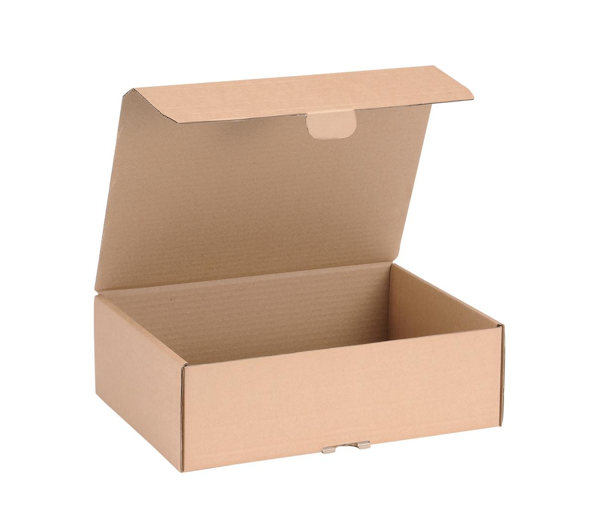 Image for Mailing Carton Easy Assemble M 325x240x105mm Brown [Pack 20]