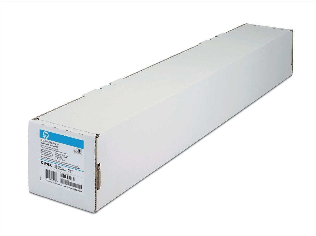 Hewlett Packard [HP] Universal Bond Paper Roll 80gsm 1067mm x 45.7m White Ref Q1398A