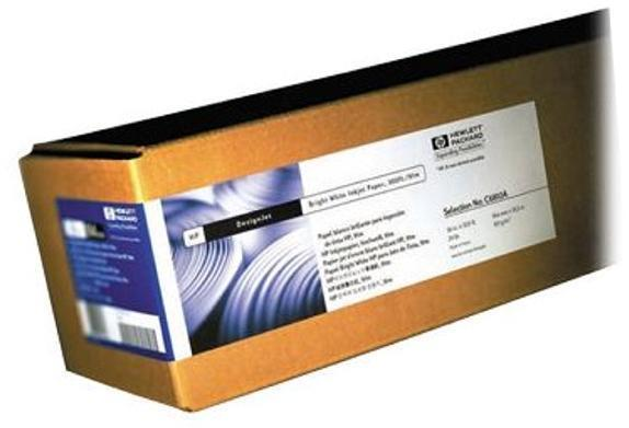 Image for Hewlett Packard [HP] Bright White Inkjet Paper Roll 90gsm 841mm x 45.7m White Ref Q1444A