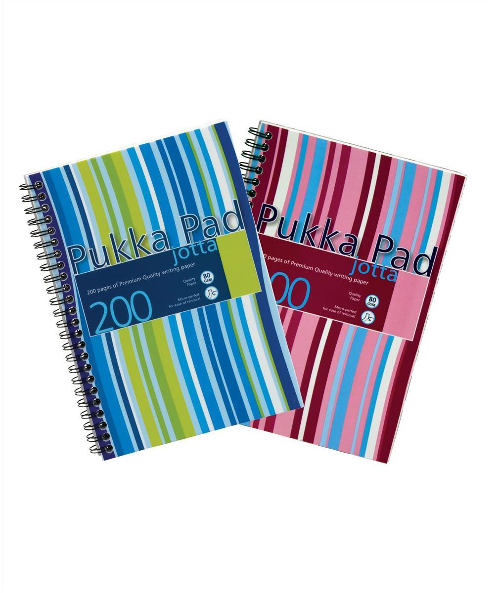Pukka Pad Jotta Notebook Wirebound Plastic Ruled 80gsm 200pp A5 Assorted Ref JP021 3/4 [Packed 3]