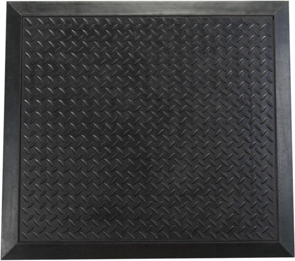 Floortex Mat Rubber Anti Fatigue Textured Anti Slip Bevelled Edge 710x780mm Ripple Pattern