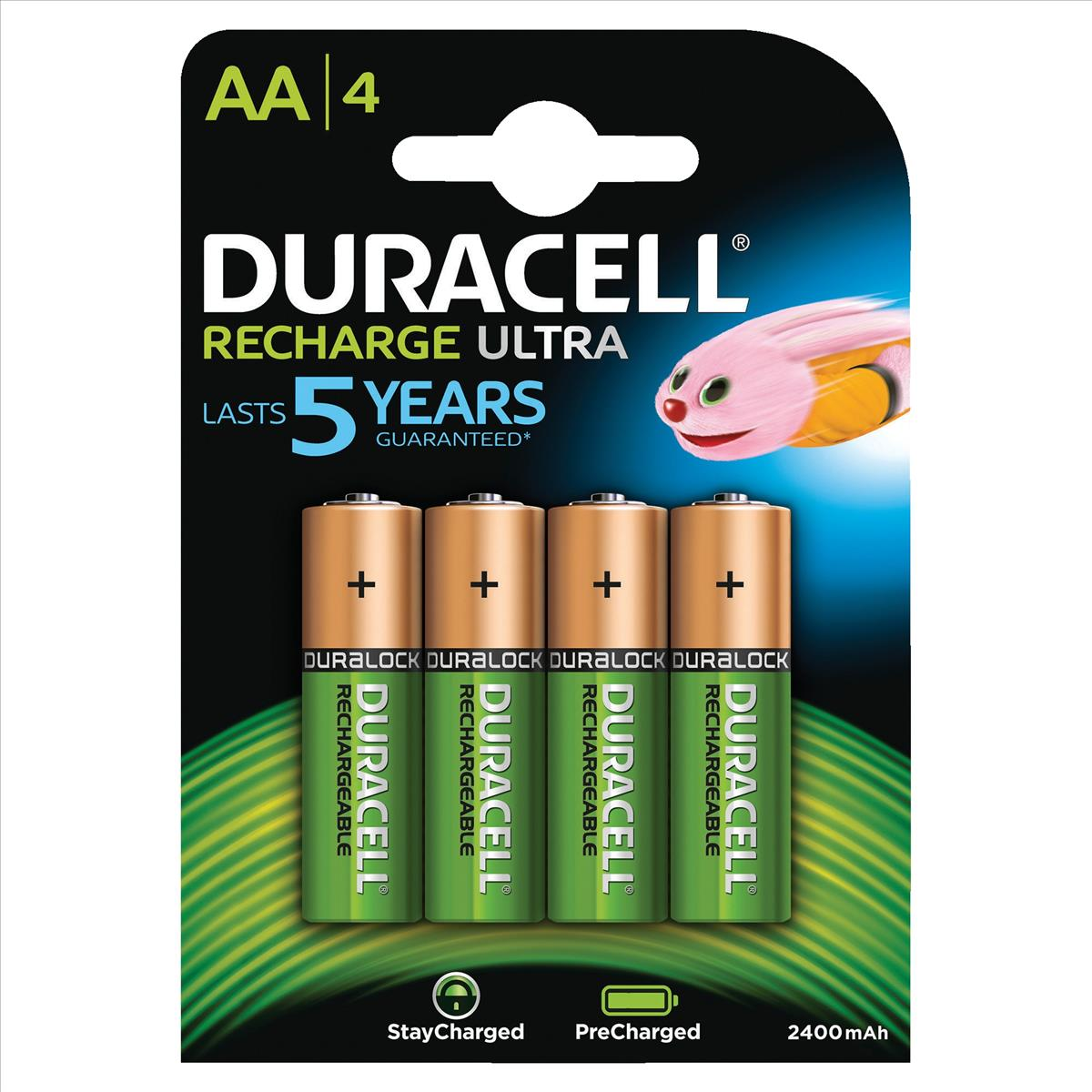 Image for Duracell Stay Charged Battery Long-life Rechargeable 1950mAh AA Size 1.2V Ref 81418237 [Pack 4]