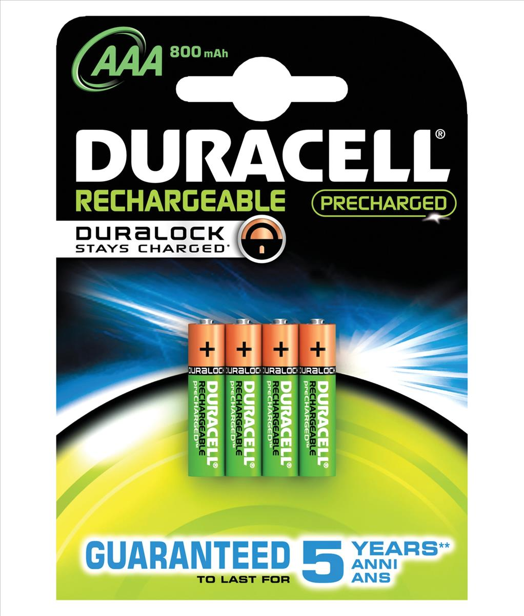 Image for Duracell Stay Charged Battery Long-life Rechargeable 800mAh AAA Size 1.2V Ref 81364755 [Pack 4]