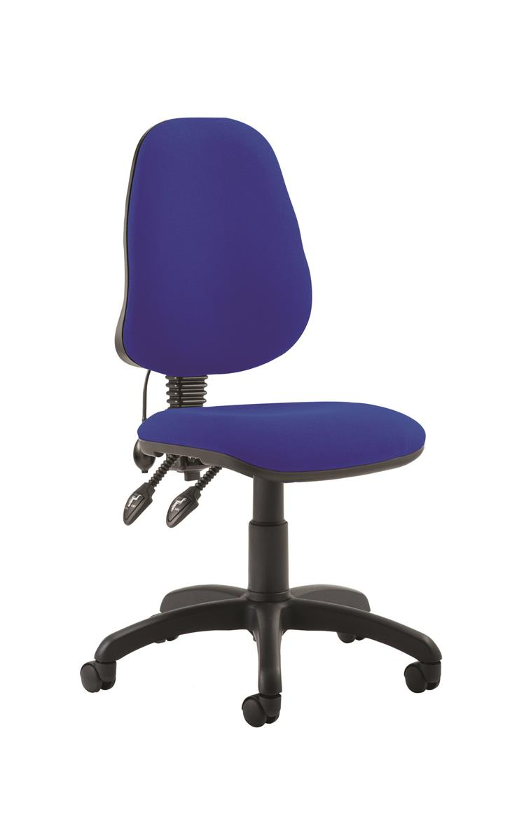Image for Trexus Lumbar Chair High Back Adjustable PCB Blue