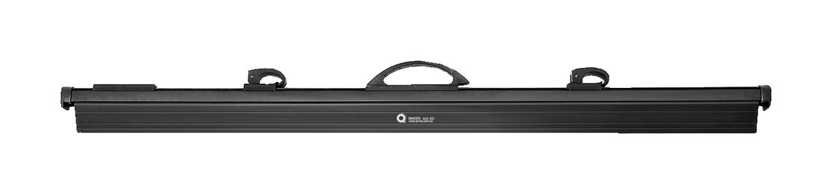 Arnos Hang-A-Plan QuickFile Front Load Binder with Cam Lever Full-length Clamp W950mm A0 Black Ref D202B
