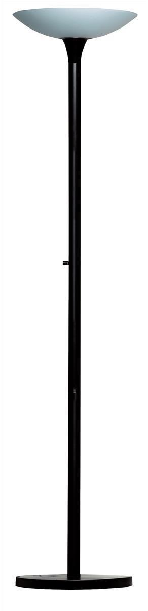 Image for Unilux Variaglass Frosted Glass Uplighter Fluorescent Circline Bulb 65W Black/Glass Ref 100340601