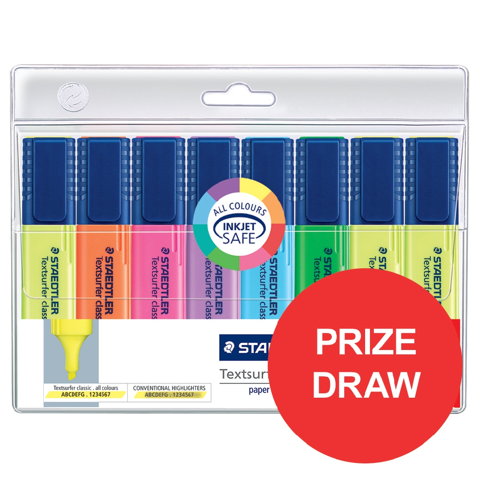 Staedtler Textsurfer Classic Highlighter Line Width 1-5mm Assorted Ref 364AWP8 [Pack 6 + 2 FREE]
