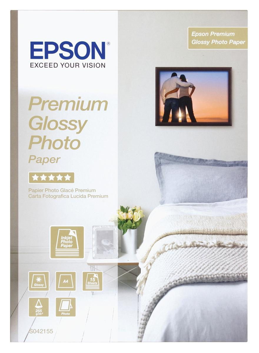 Image for Epson Photo Paper Premium Glossy A4 Ref S042155 [15 Sheets]