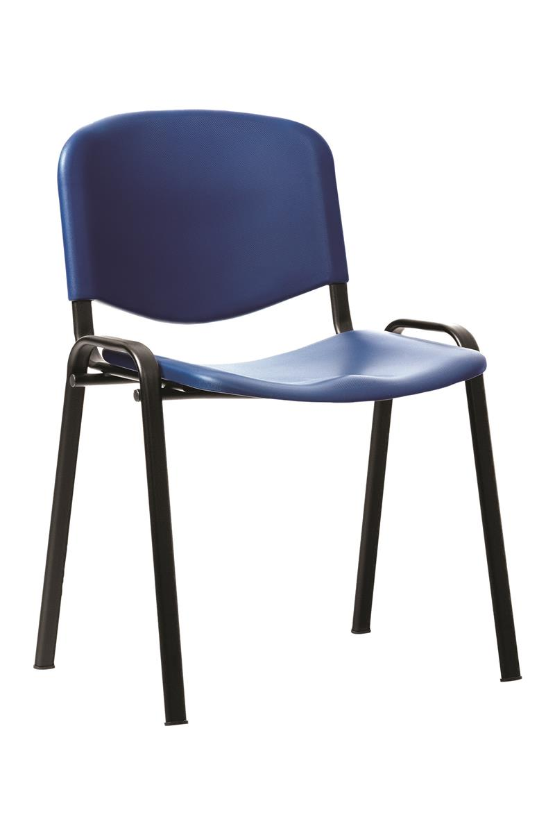 Image for Trexus Stacking Chair Polypropylene Blue