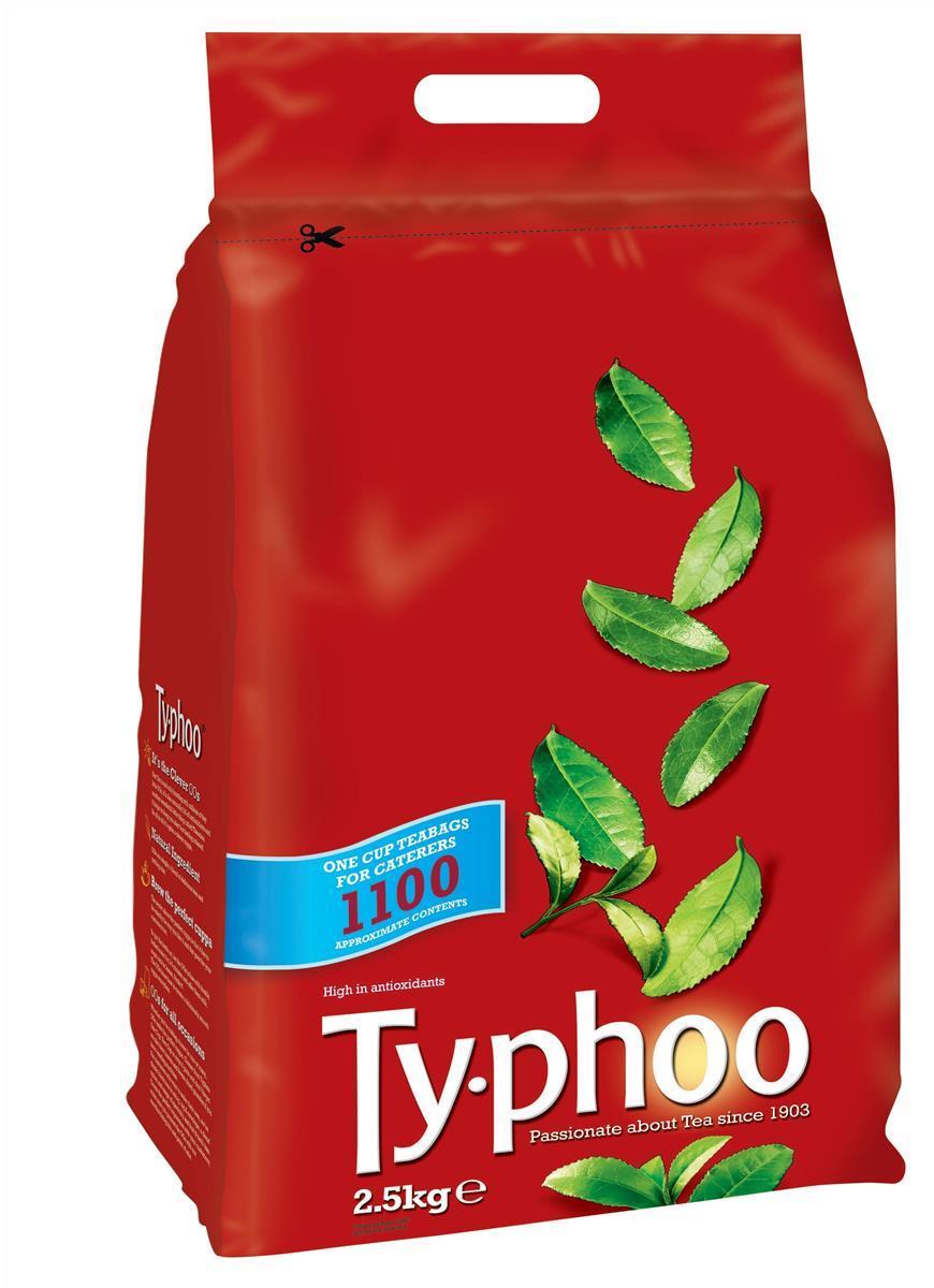 Typhoo Tea Bags Vacuum-packed 1 Cup Ref A00786 [Pack 1100]