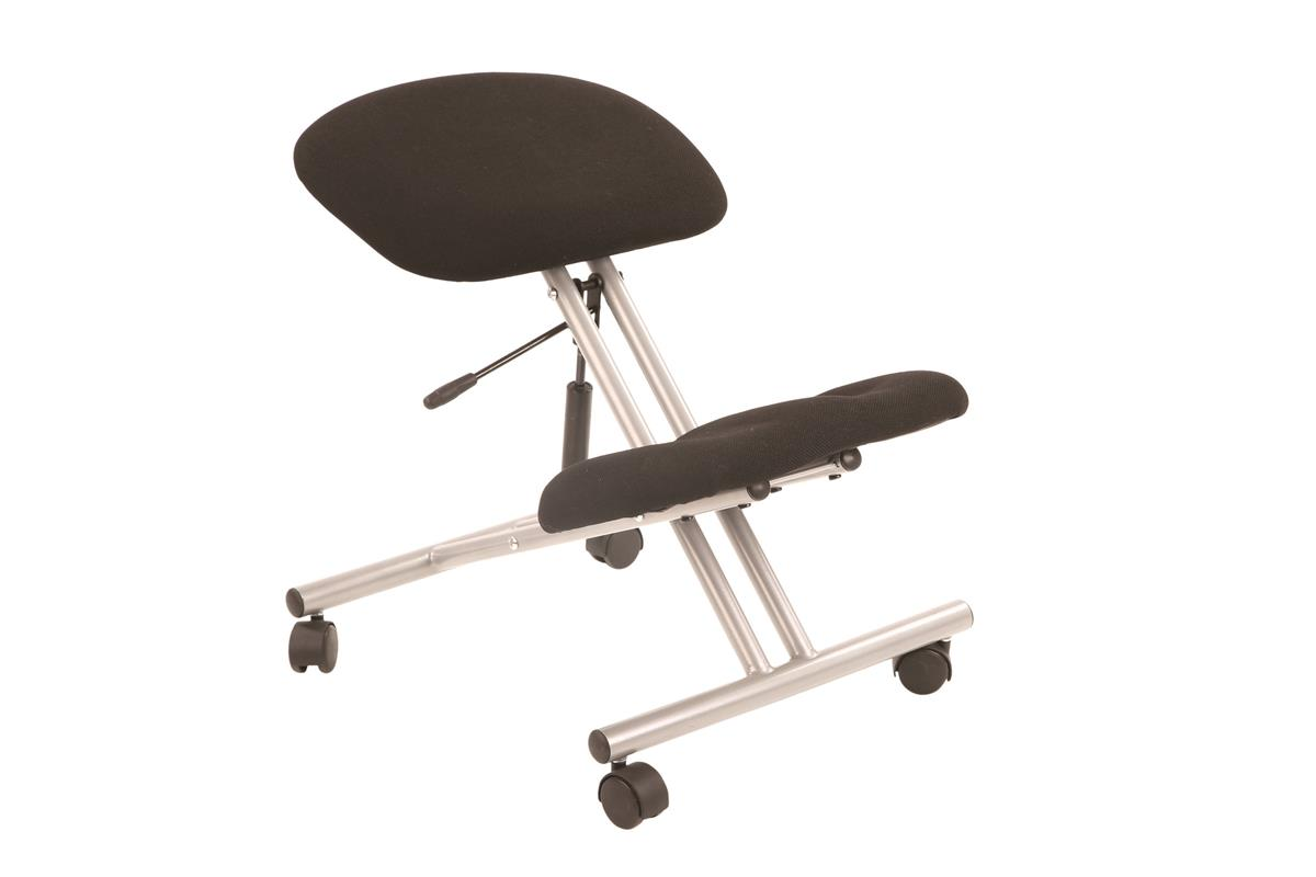 Image for Trexus Operator Chair Flat Packed Fabric Black/Silver