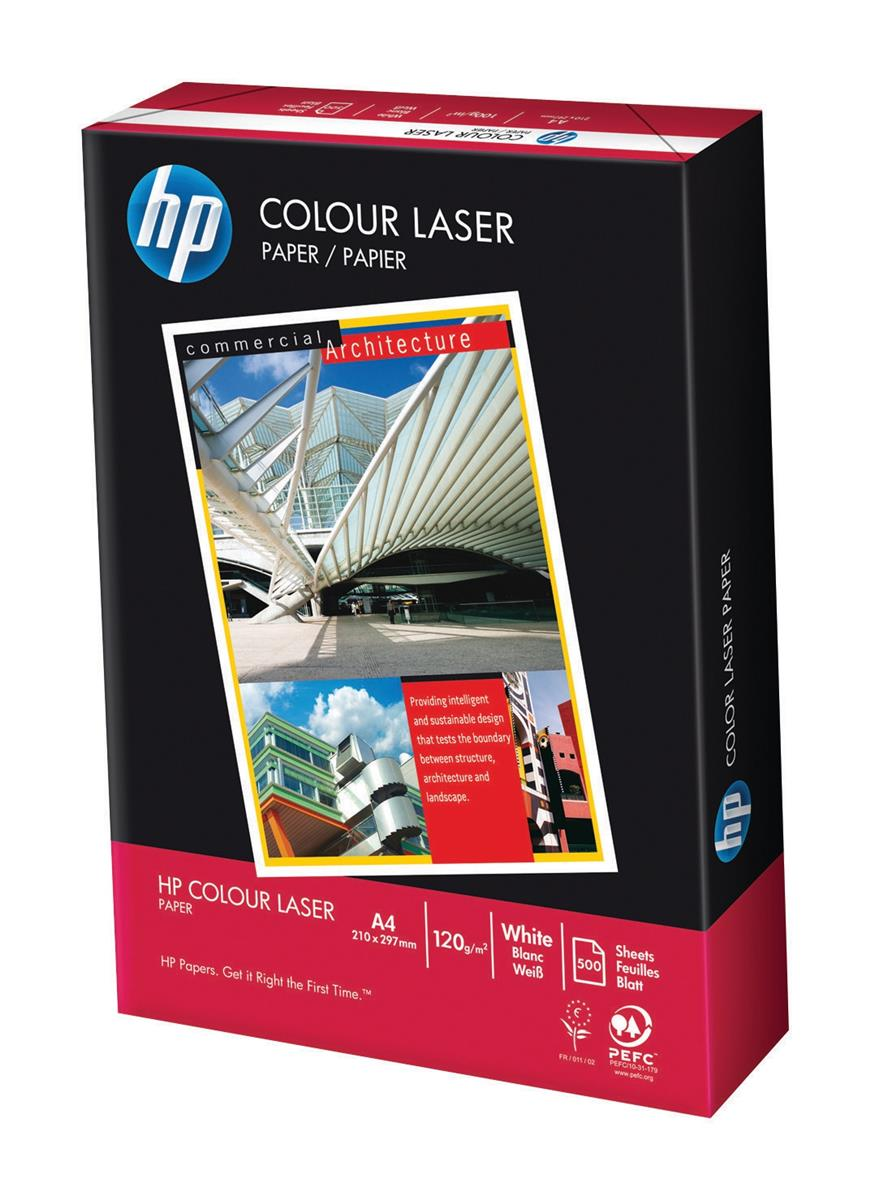 Image for Hewlett Packard [HP] Laser Paper Smooth ColorLok 120gsm A4 White Ref HCL0330 [250 Sheets]