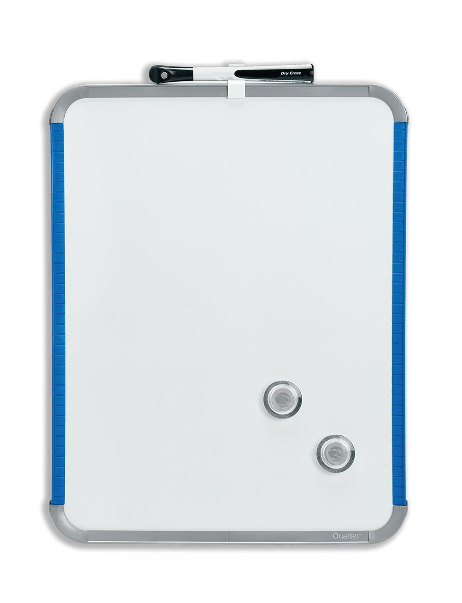 Nobo SlimLine Drywipe Board Magnetic with Pen and Eraser 220x14x280mm White and Blue Ref QB05142AS