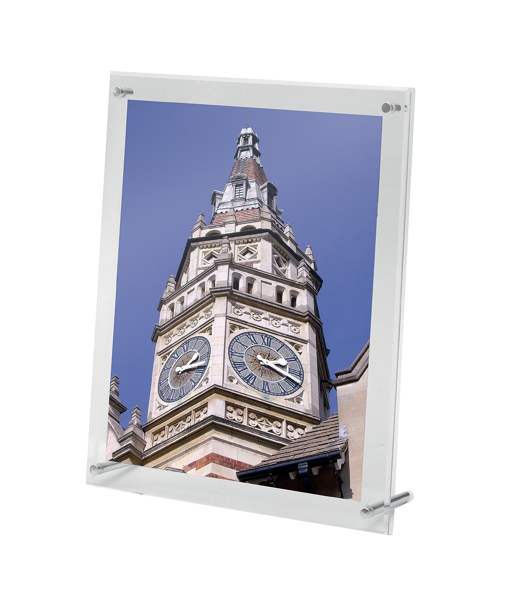 Image for Sign or Menu Display Holder Wall Mounted Bevelled Edge Acrylic 216x279mm
