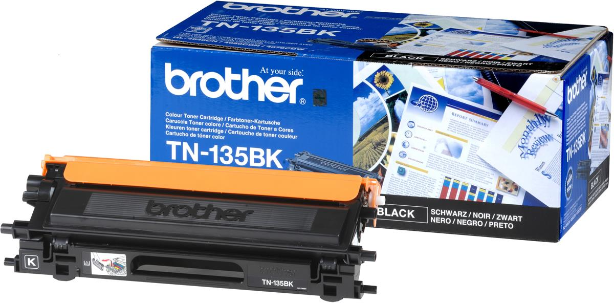 Brother Laser Toner Cartridge High Yield Page Life 5000pp Black Ref TN135BK