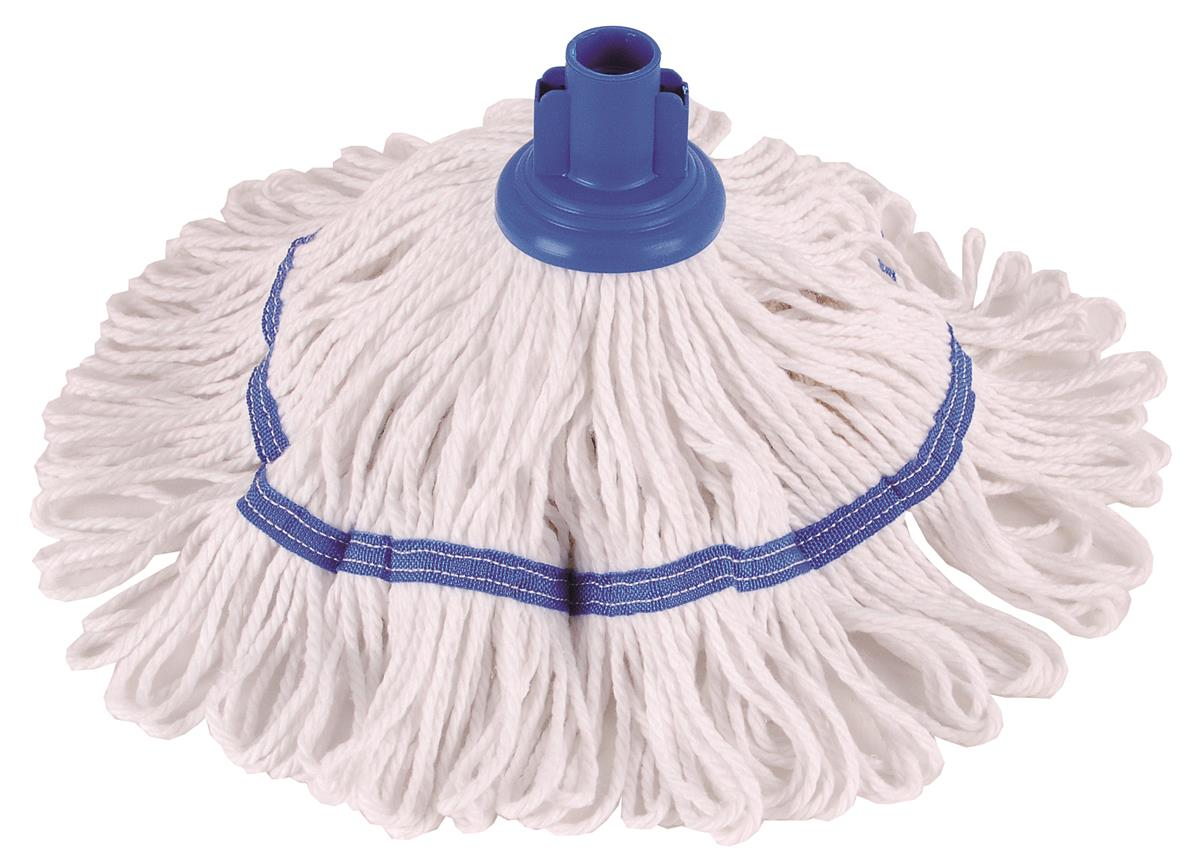 Robert Scott & Sons Hygiemix T1 Socket Mop Cotton & Synthetic Yarn Colour-coded 200g Blue Ref 103062BLUE