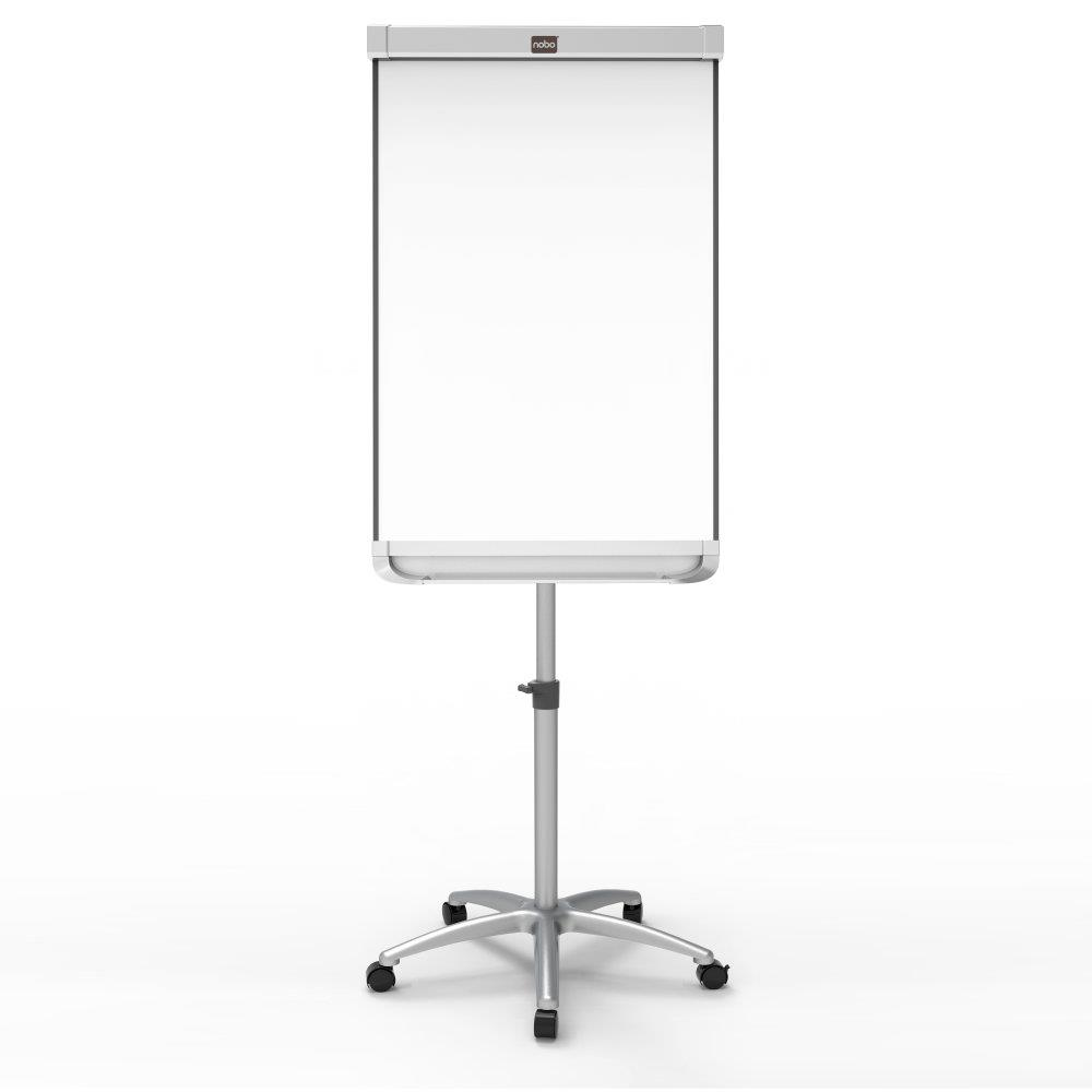 Nobo Prestige Enamel Mobile Easel Magnetic Height-adjustable Dotted W1000xH700mm White Ref 1905245