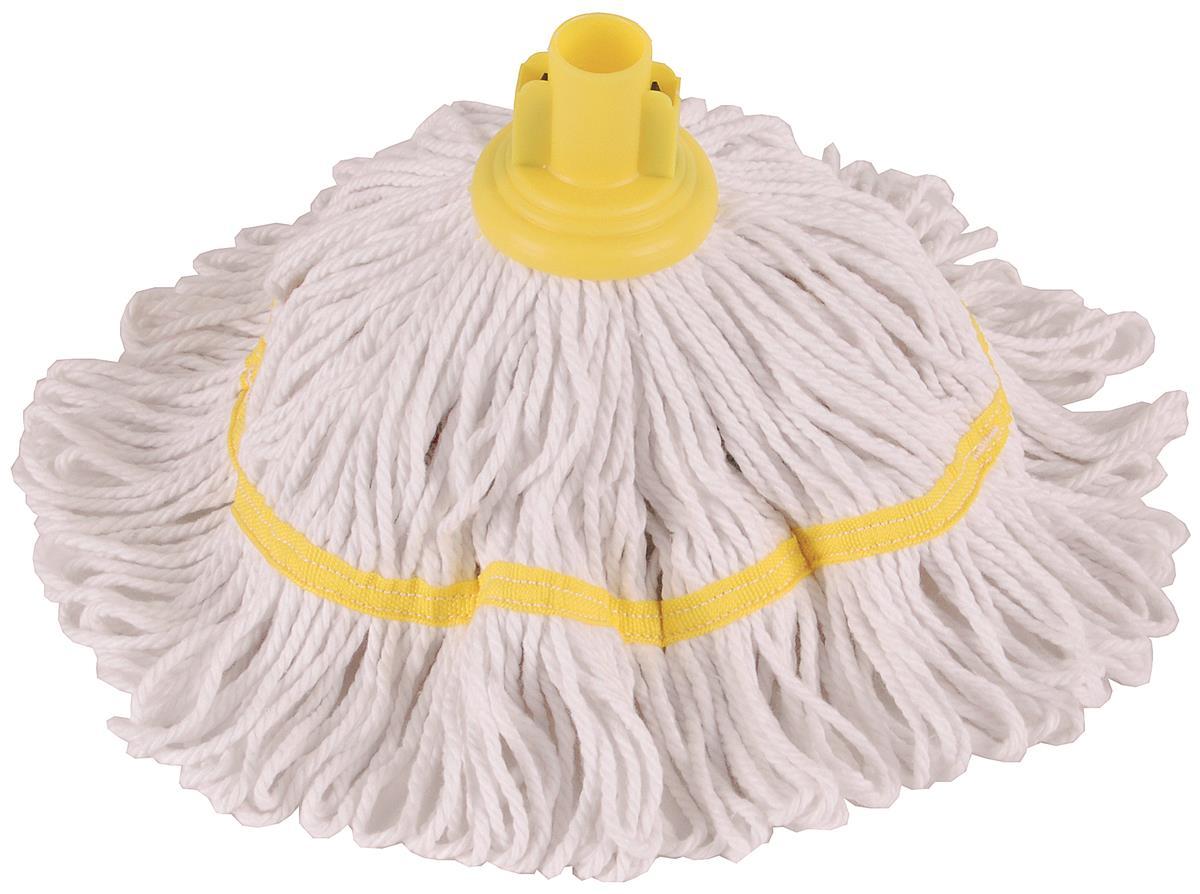 Robert Scott & Sons Hygiemix T1 Socket Mop Cotton & Synthetic Colour-coded 200g Yellow Ref 103062YELLOW