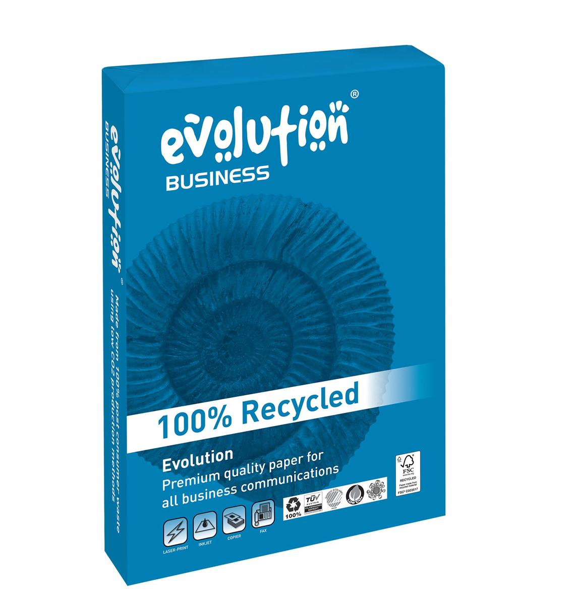 Image for Business Evolution Recycled Paper 100gsm A3 White Ref EVBU2100 [500 Sheets]