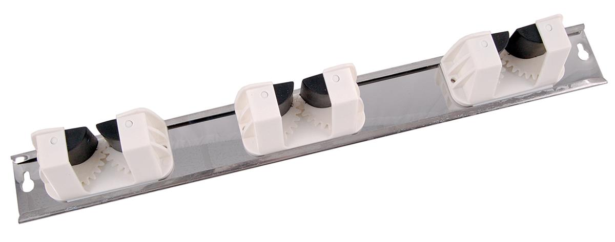 Robert Scott & Sons Broom Clips Wall Tidy Grip System Capacity for 3x Handles White Ref OWT3WHO5A