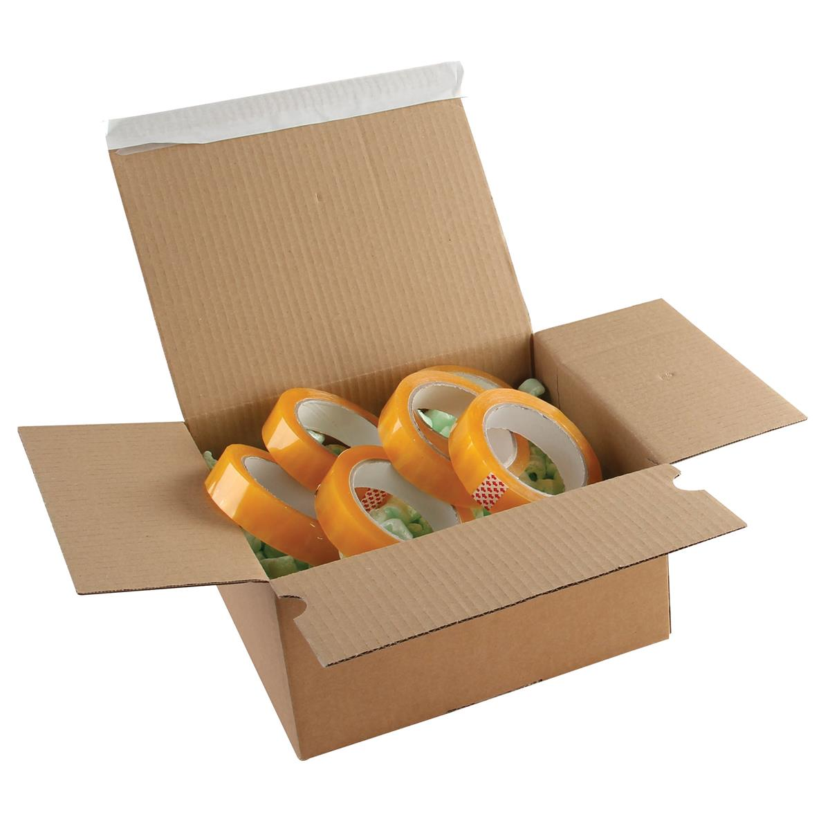 Image for Blakes Postal Box Peel & Seal WxDxH 230x160x80mm Kraft Ref PEB30 [Pack 20]