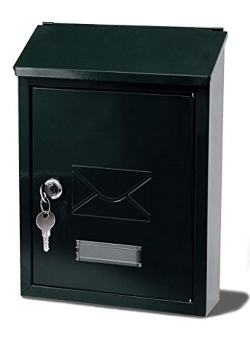 Image for G2 Avon Postbox Steel 2 Keys Fixing Kit W223xD86xH320mm Black