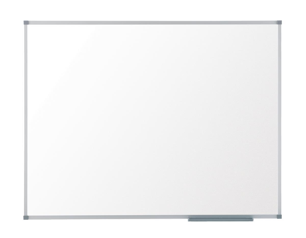 Nobo Basic Whiteboard Melamine Surface Non-magnetic Fixings Included W600xH450mm White Ref 1905201