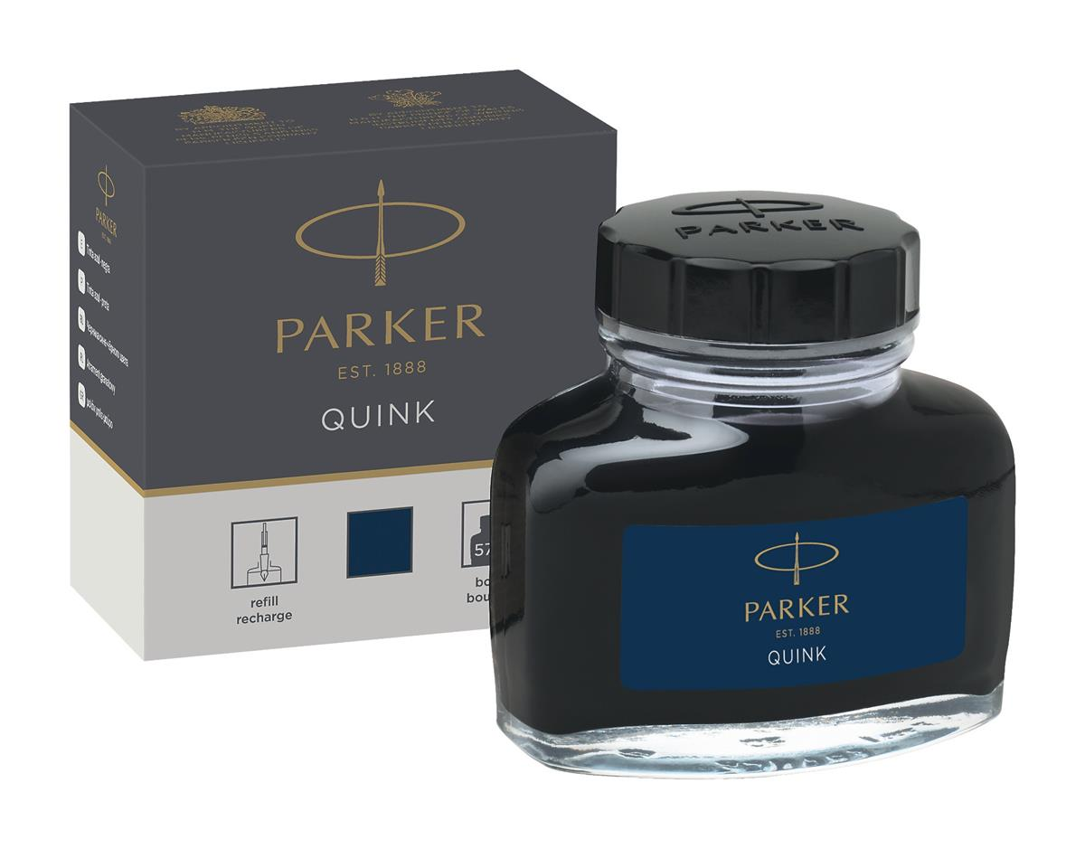 Image for Parker Quink Bottled Ink for Fountain Pens 57ml Black/Blue Ref 1950378
