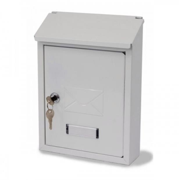 Image for G2 Avon Postbox Steel 2 Keys Fixing Kit W223xD86xH320mm White