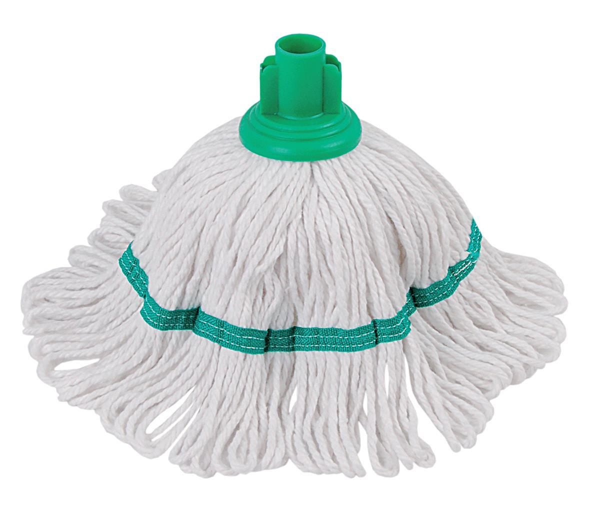 Robert Scott & Sons Hygiemix T1 Socket Mop Cotton & Synthetic Colour-coded 200g Green Ref 103062GREEN
